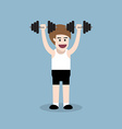 dumbbell shoulder press exercise vector image vector image