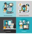 E-learning Flat Set vector image vector image
