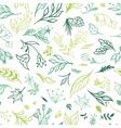 Eco Sketch Spring Pattern vector image vector image