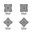 Ethnic signs and design elements vector image