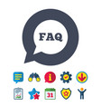 faq information sign icon help symbol vector image