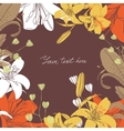 floral card17 vector image vector image