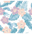 flowers hibiscus abstract cold color tropical vector image vector image