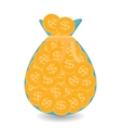 Full Bag of Gold Coins - Contribution to Future vector image vector image