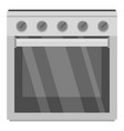 gas oven icon flat style vector image vector image