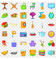 good home icons set cartoon style vector image vector image