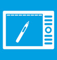 graphics tablet icon white vector image vector image