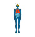 human body infographic man vector image