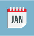 icon day square calendar month january vector image vector image
