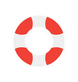 lifebuoy isolated on white background flat design vector image vector image