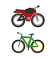 means of transport icons vector image