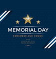 memorial day cover template vector image