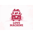 modern professional sign logo love machine vector image