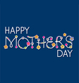 mothers day hand lettering headline vector image vector image