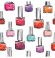 nail polish bottle pattern beauty salon vector image vector image