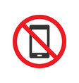 no mobile phone sign vector image