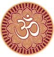 Om - aum - symbol in flower rosette vector | Price: 1 Credit (USD $1)