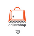 online shop symbol set concept vector image