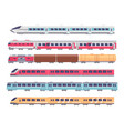 passenger trains cartoon subway express and vector image