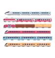 passenger trains cartoon subway express vector image