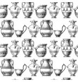 pattern with greek vases vector image vector image