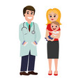 pediatrician doctor vector image vector image