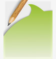 pencil filling up questionnaire on white paper vector image vector image