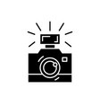 photography black icon sign on isolated vector image vector image