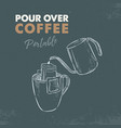 pour over coffee portable sketch vector image