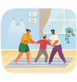 problems and conflict in family fight and arguing vector image vector image