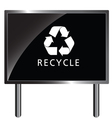 recycle icon on billboard vector image vector image