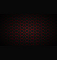 red abstract hexagon technology vector image vector image