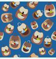 school cartoon seamless pattern with vector image