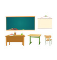 school desk chipboard and a chair vector image