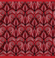 seamless texture with red doodle hearts with the vector image vector image