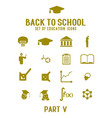 set icons theme education and science vector image vector image