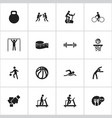 set of 16 editable active icons includes symbols vector image vector image