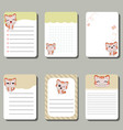 set of cute creative cards with cats set of cute vector image vector image