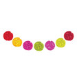 Set of cute red pink and yellow birthday