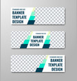 set of horizontal white web banners with place vector image vector image