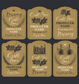 set of labels for beer and brewery in retro style vector image vector image