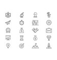 set of startup and business line icons vector image