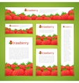 set strawberry banners vector image vector image