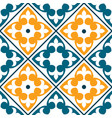 spanish tile pattern portuguese or moroccan tile vector image vector image