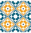 spanish tile pattern portuguese or moroccan tile vector image