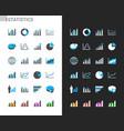 statistics icons light and dark theme vector image