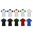 t-shirt polo realistic female clothing white vector image