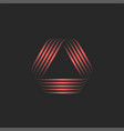 triangle logo 3d or creative overlapping lines vector image vector image
