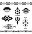 Tribal shop labels set vector image