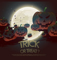trick or treat halloween festival background vector image vector image